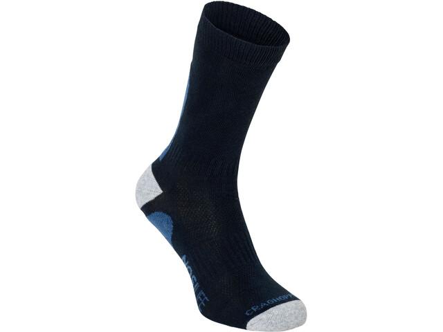 Craghoppers NosiLife Socks Twin Pack Herr dark navy/soft denim stripe